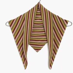 Madewell silk bandana scarf striped